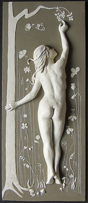 Before the Fall ( Limited Edition of 3)   10 ins x 25½ ins    plaster of paris, acrylic