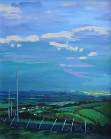 Clearing Skies over East Kilbride 16 ins x 19 ins <h3><center>*** SOLD ***</center></h3>