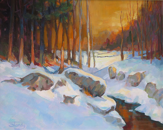 Late Snow – acrylic on canvas – 19ins x 16ins
