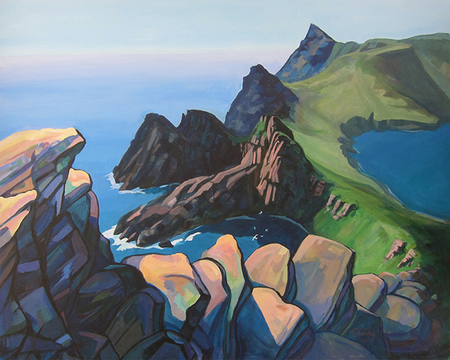 Summer Afternoon, St Kilda - acrylic on canvas - 31 ins x 39 ins <h3><center>*** SOLD ***</center></h3>