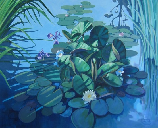 The Lily Pond – acrylic on canvas – 31 inches x 39 inches <h3><center>*** SOLD ***</center></h3>