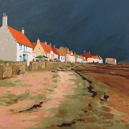Pittenweem – Festival Day acrylic on canvas 12 ins x 12 ins